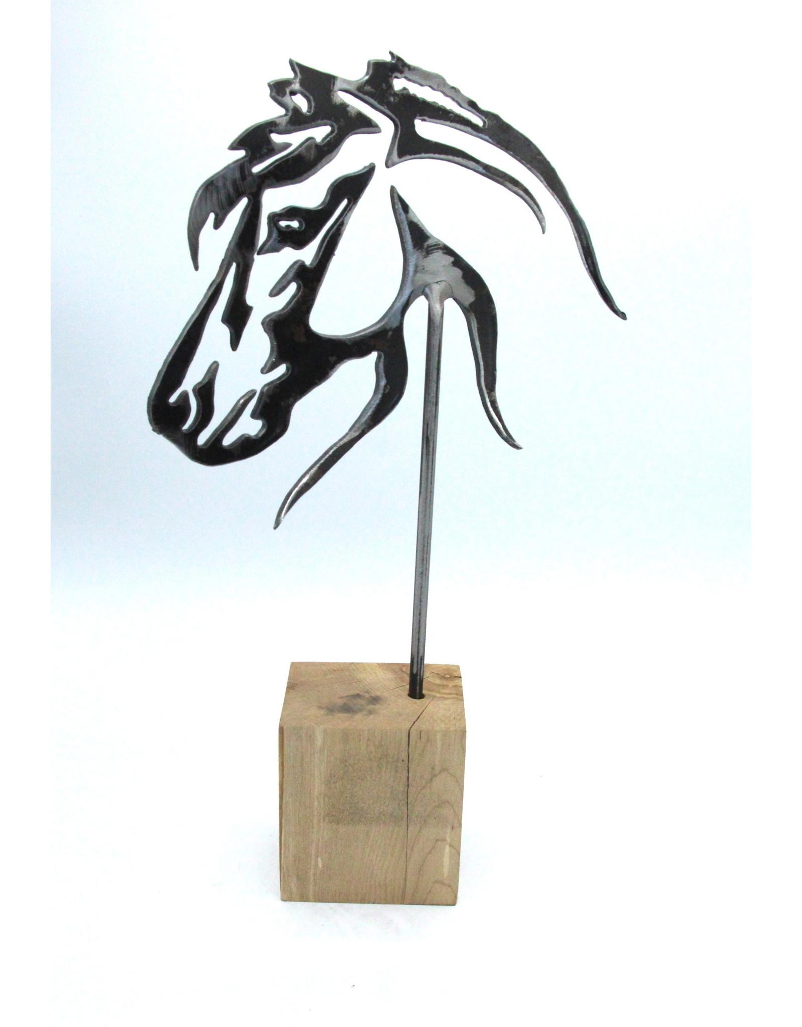 Metal Sculpture - Horse's Head Profile