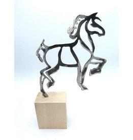 Sculpture en Métal - Cheval au Galop