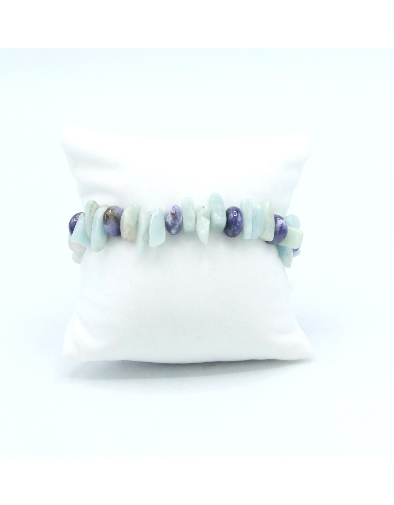 Scapolite and Aquamarine Bracelet - BSA01