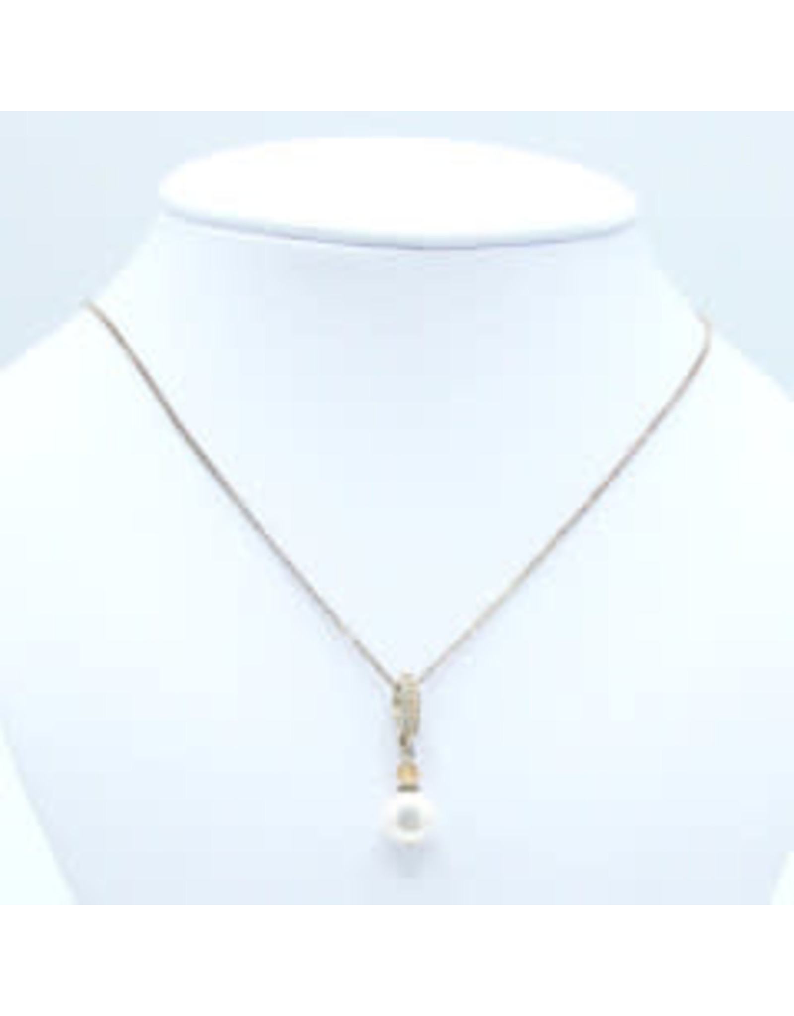 Grenat Hessonite & Pearl Necklace - NGH01