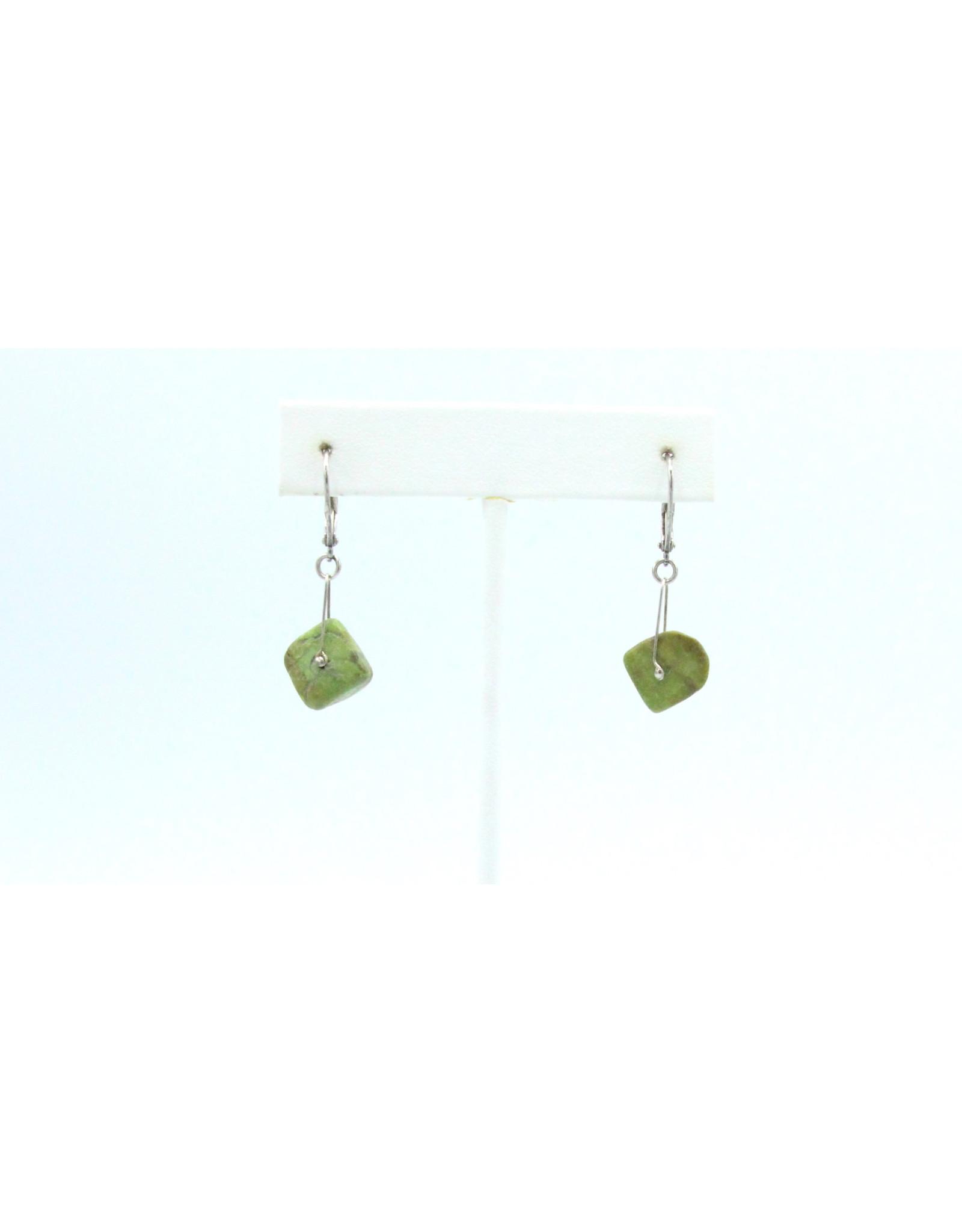 Gaspeite Earrings - EG04