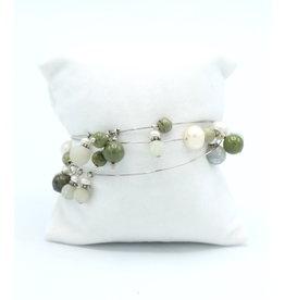 Epidote & Saphire Mix Bracelet