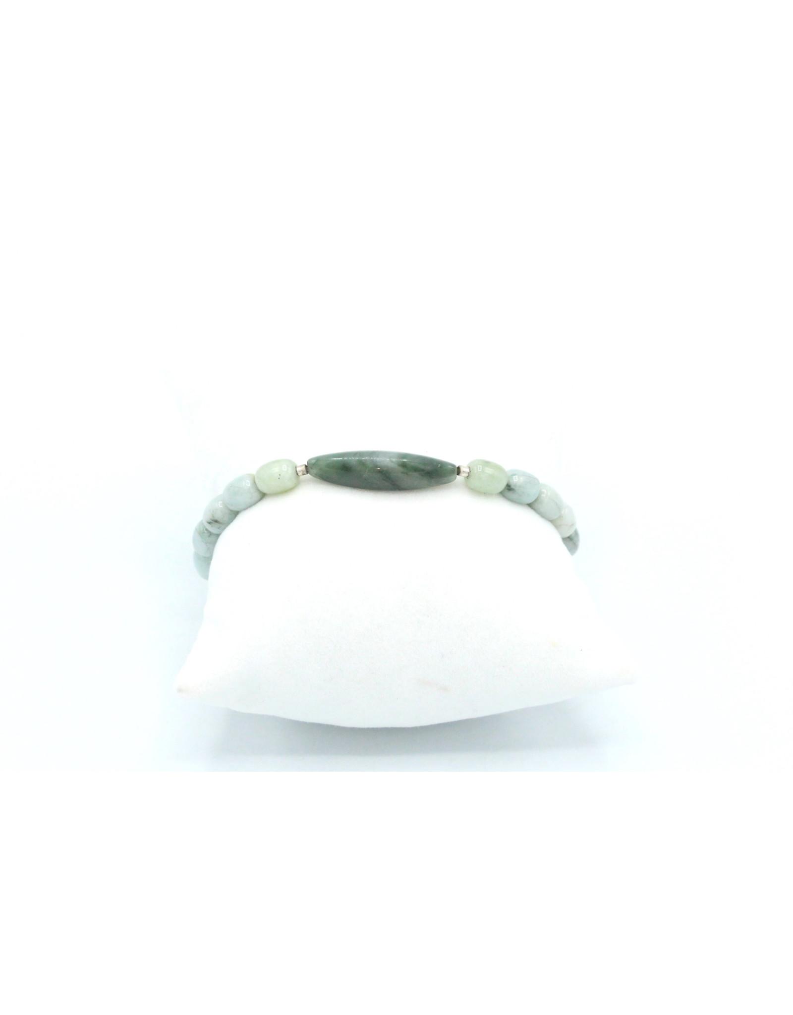 Agate Mousse and Amazonite Bracelet - BAAMA01
