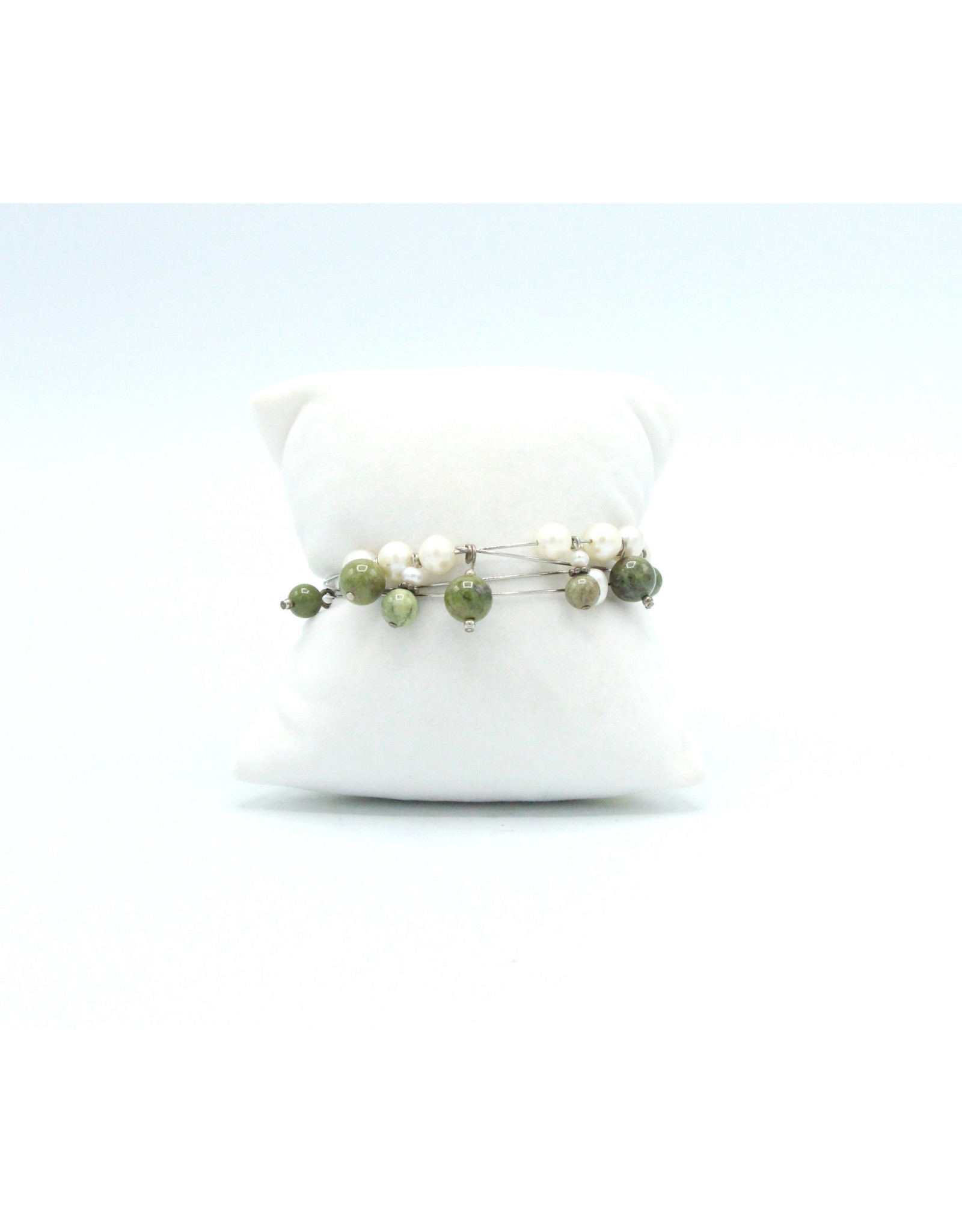 Epidote & Pearl Bracelet - EPB01