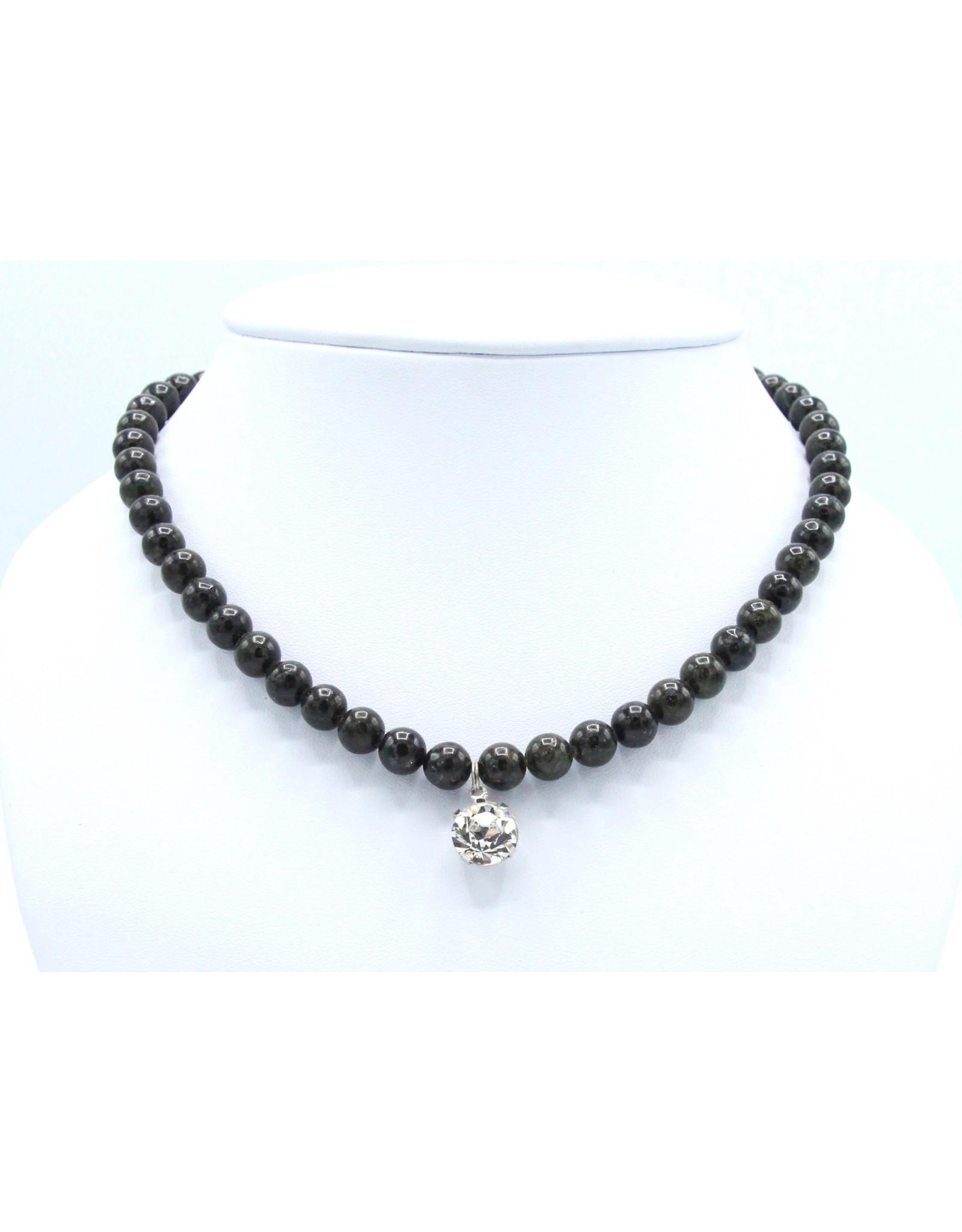 Granit Noir and Swarovski Necklace - NGN03