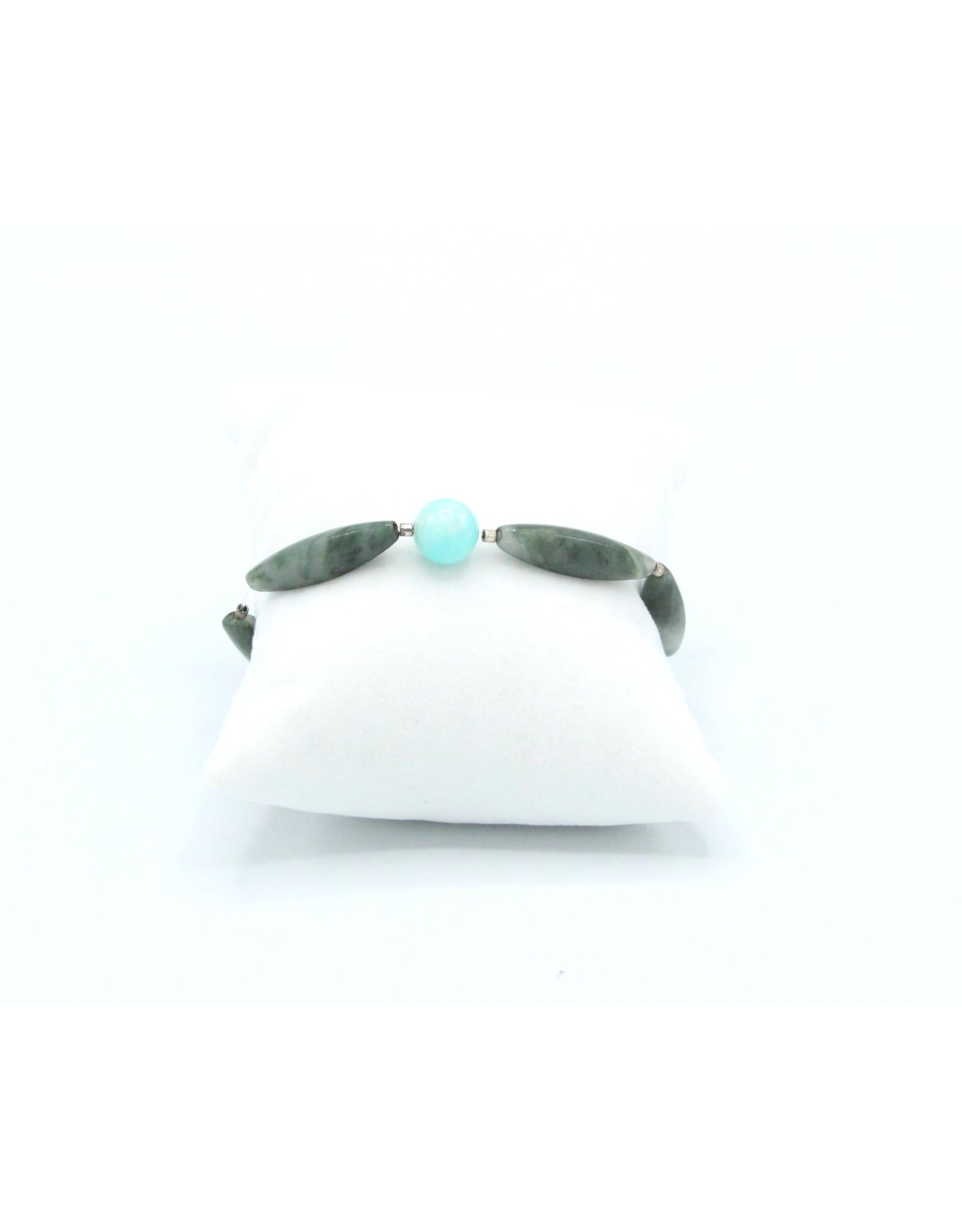 Aquamarine & Agate Mousse Bracelet - BAAM01