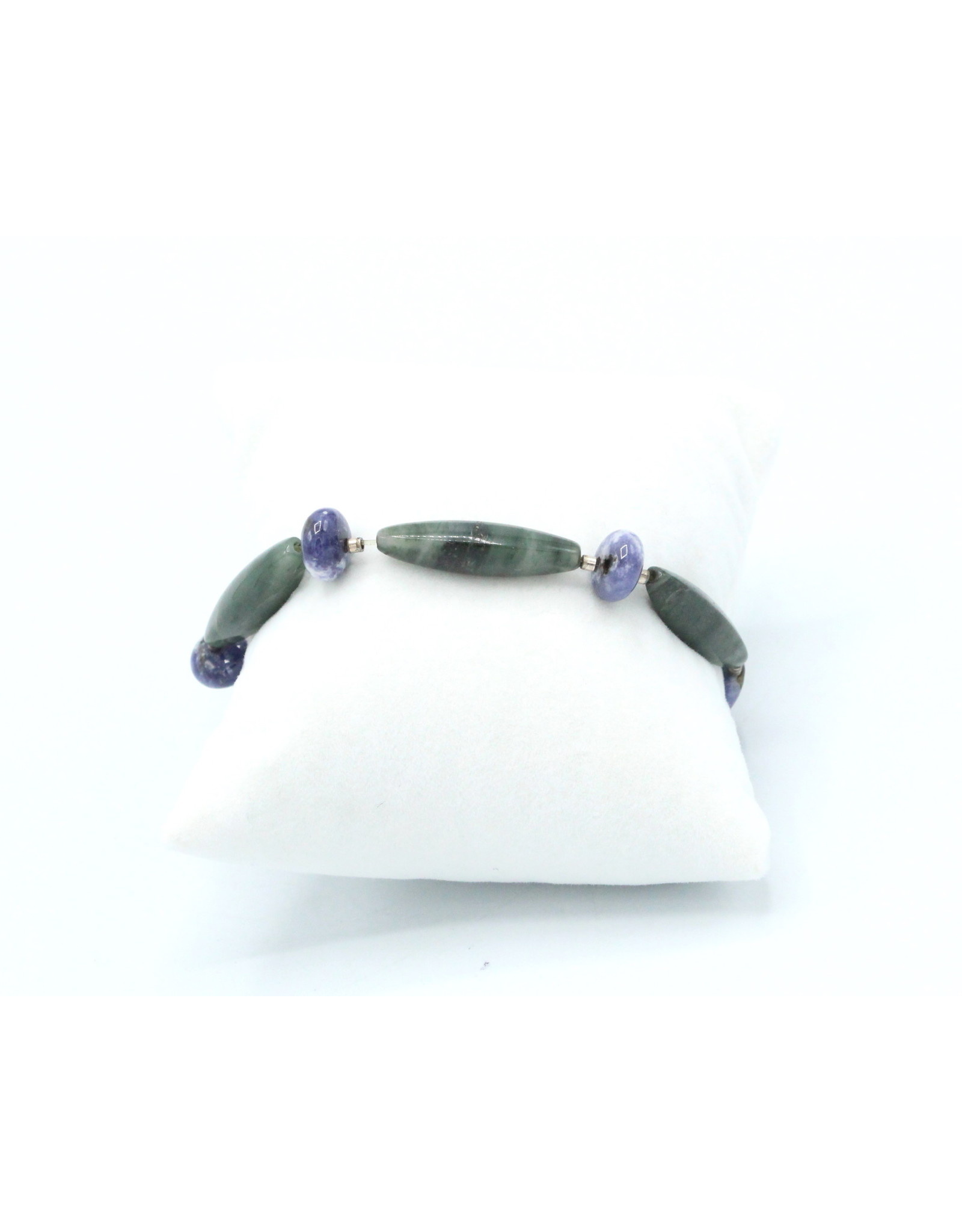 Agate Mousse and Scapolite Bracelet - BAMS01