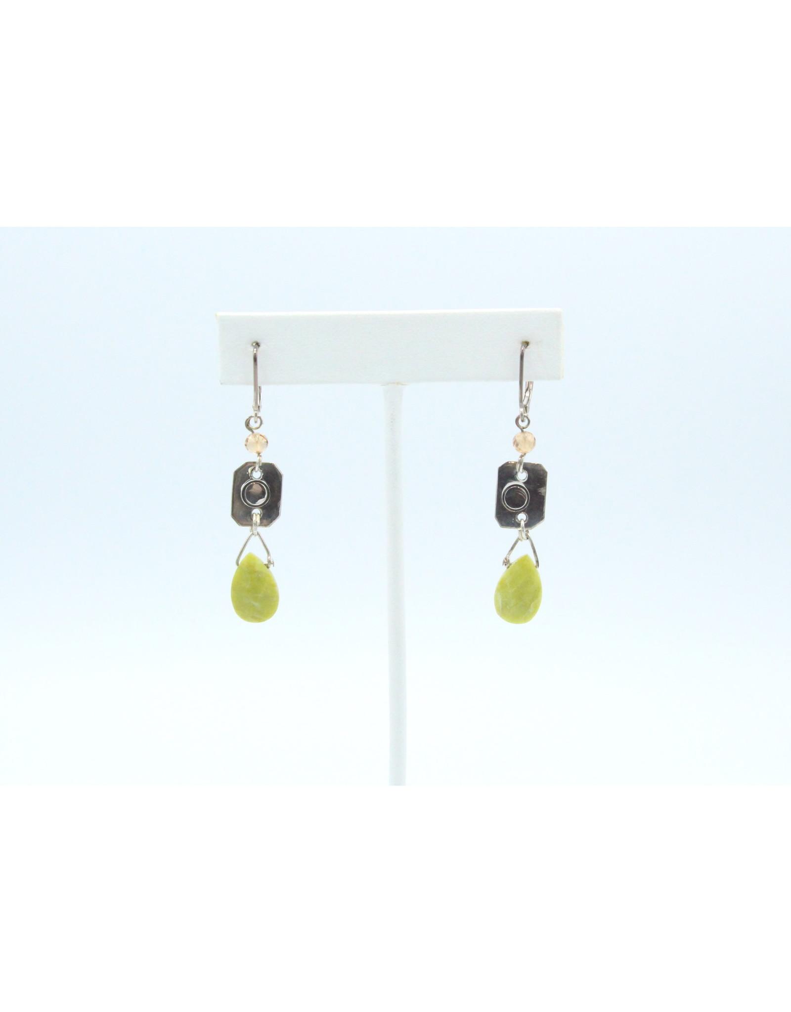 Lewisonite & Grenat Earrings - ERLG01