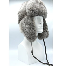 Rabbit Trooper Hat Grey Rounded