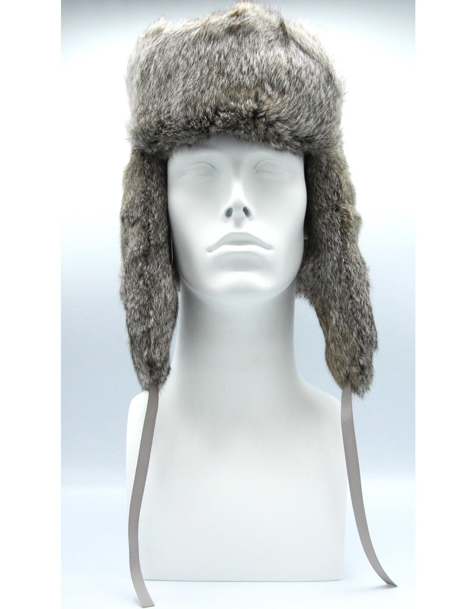 Rabbit Trooper Hat Grey Flat
