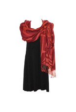 Sacred Shawl Red 'Spirit Wolf'