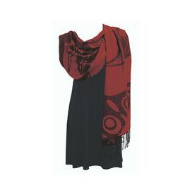 Shawl Red 'Ancient Wisdom'