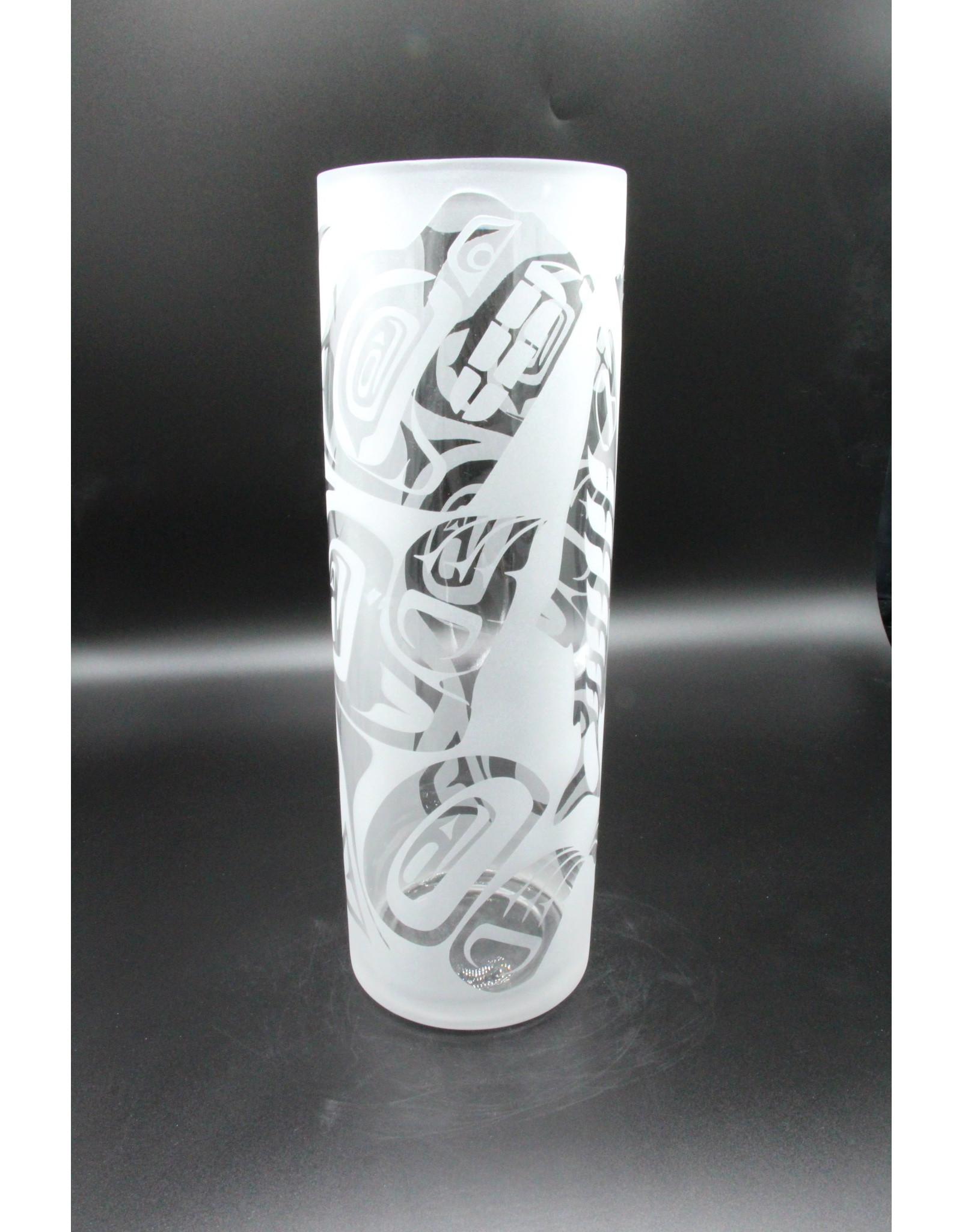 Tall Glass Vase - Bear