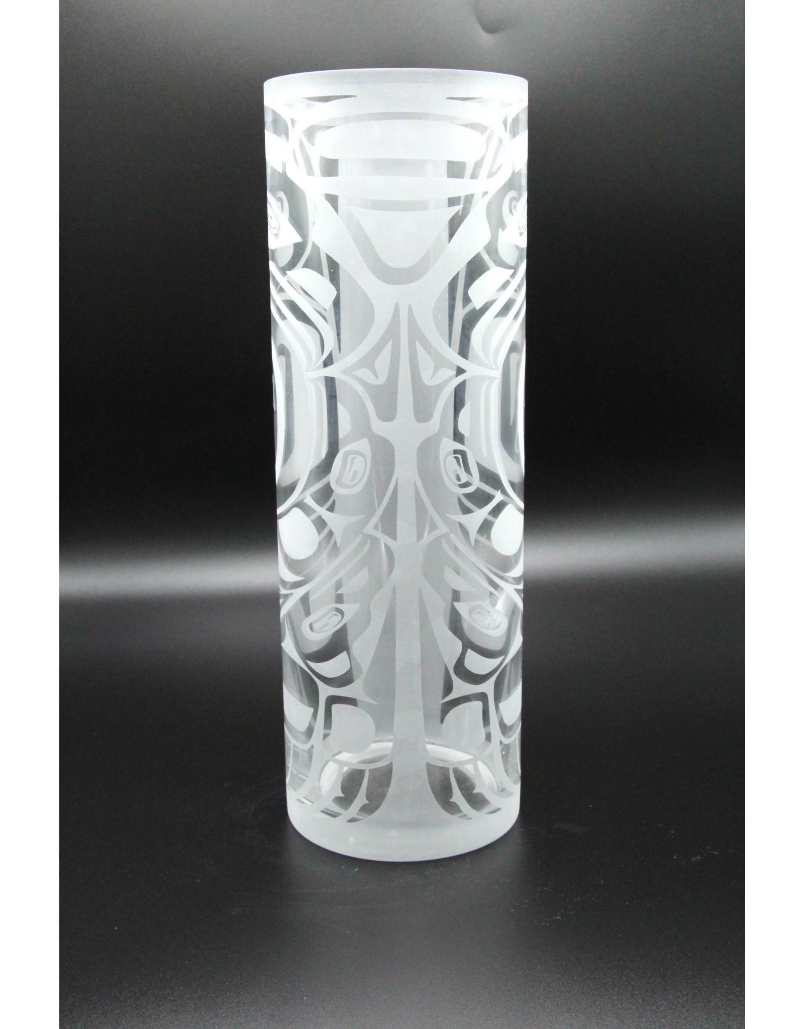 Tall Glass Vase - Raven