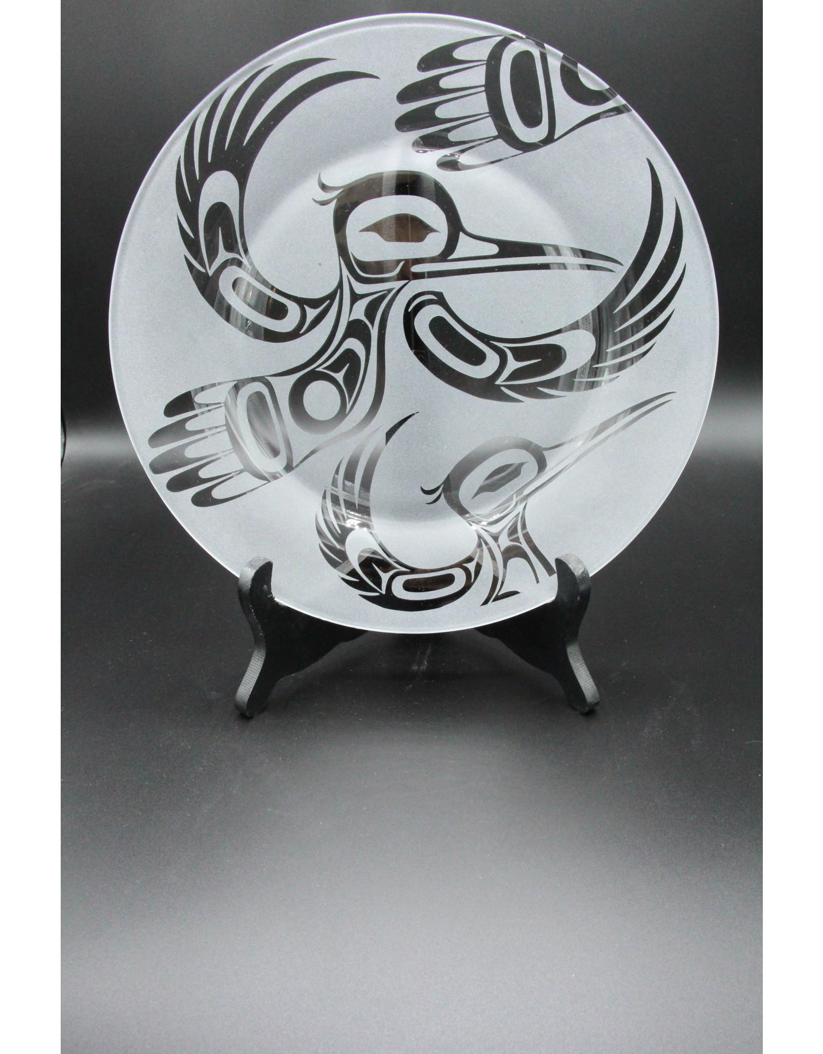 Glass Plate - Hummingbird