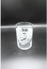 Glass Cylinder - Raven