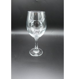 Wine Glass - Hummingbird