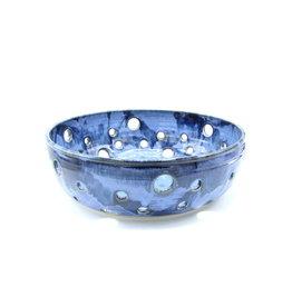 Large Fruit Bowl Blue