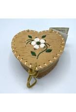 Small Heart Birchbark Basket - 20061