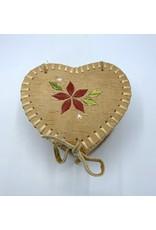 Medium Heart Birchbark Basket - 20073B