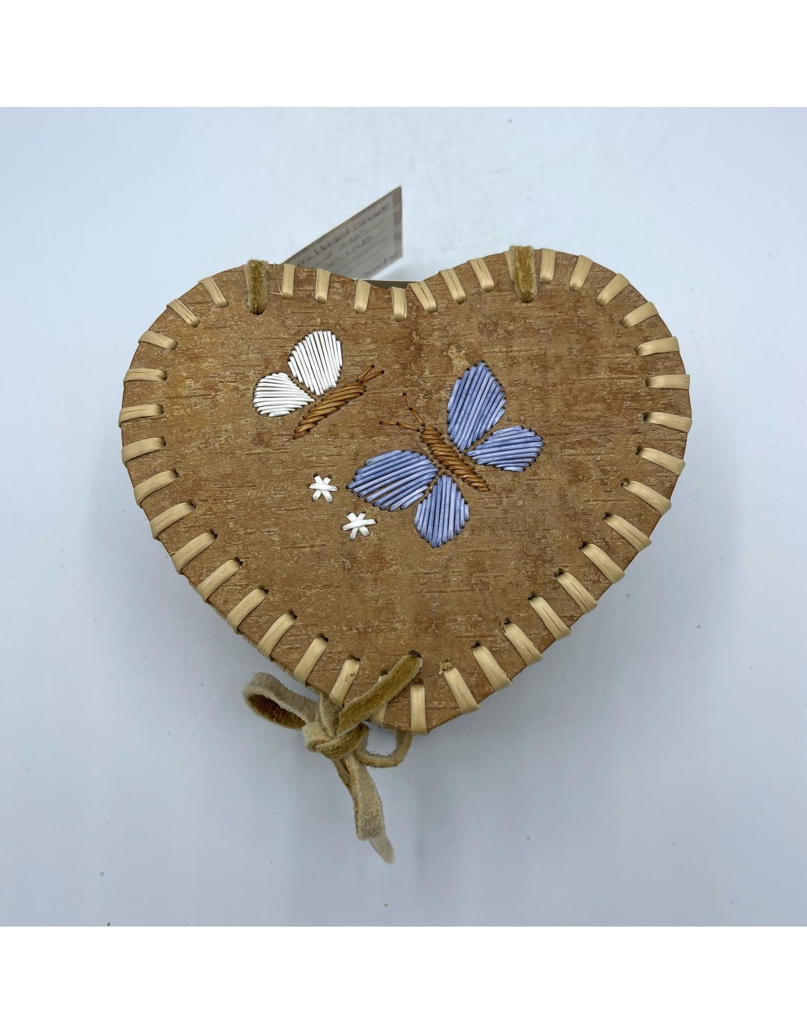 Medium Heart Birchbark Basket - 20072B
