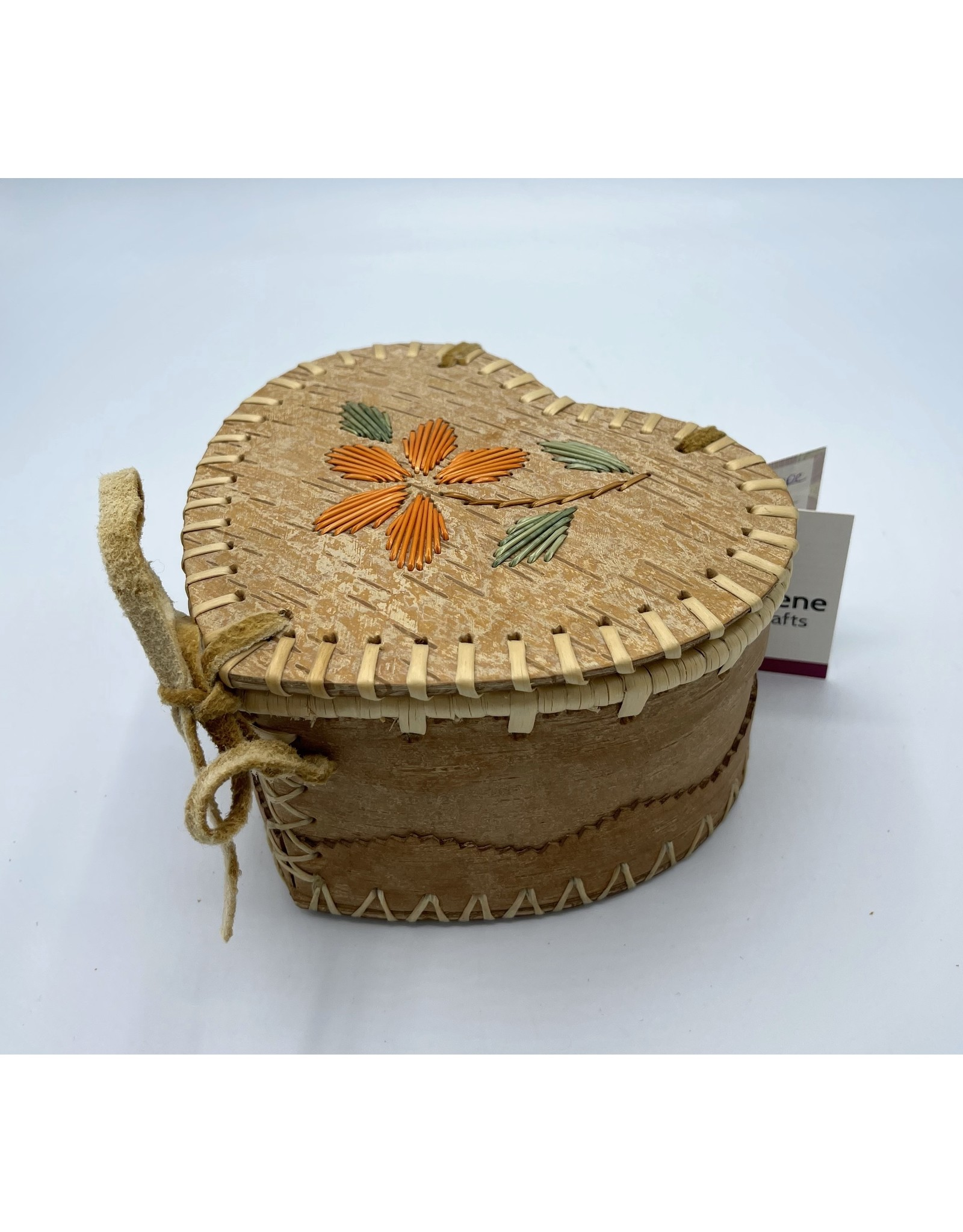 Medium Heart Birchbark Basket - 20071B