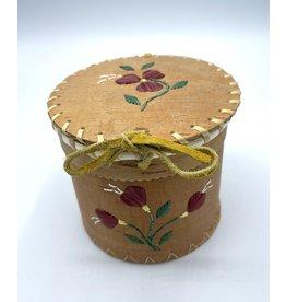Small Round Birchbark Basket - 20013A