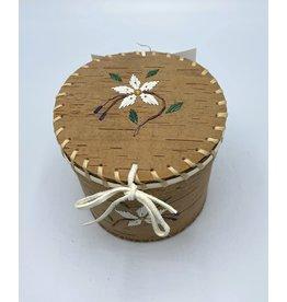 Small Round Birchbark Basket - 20012A