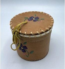 Small Round Birchbark Basket - 20014A