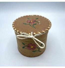 Small Round Birchbark Basket - 20016A