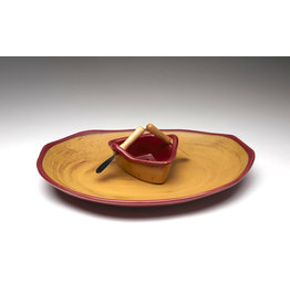 Boat on a Pond Dip Set - Red Gold