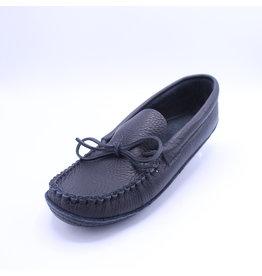 Men Moccasin Leather - Black