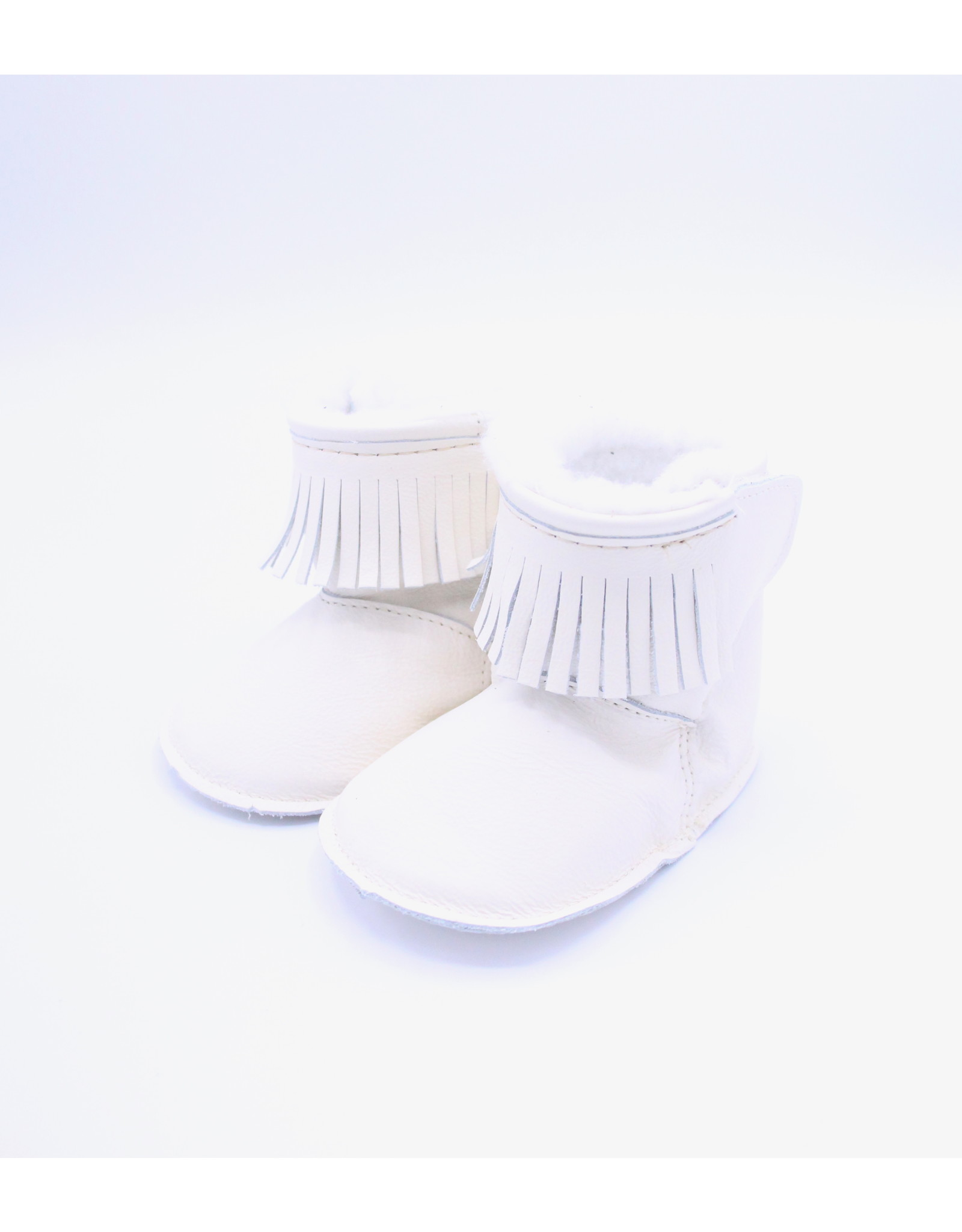 Baby Lined Moccasin - Cream