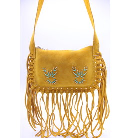 Fringed Suede Purse - Indian Tan