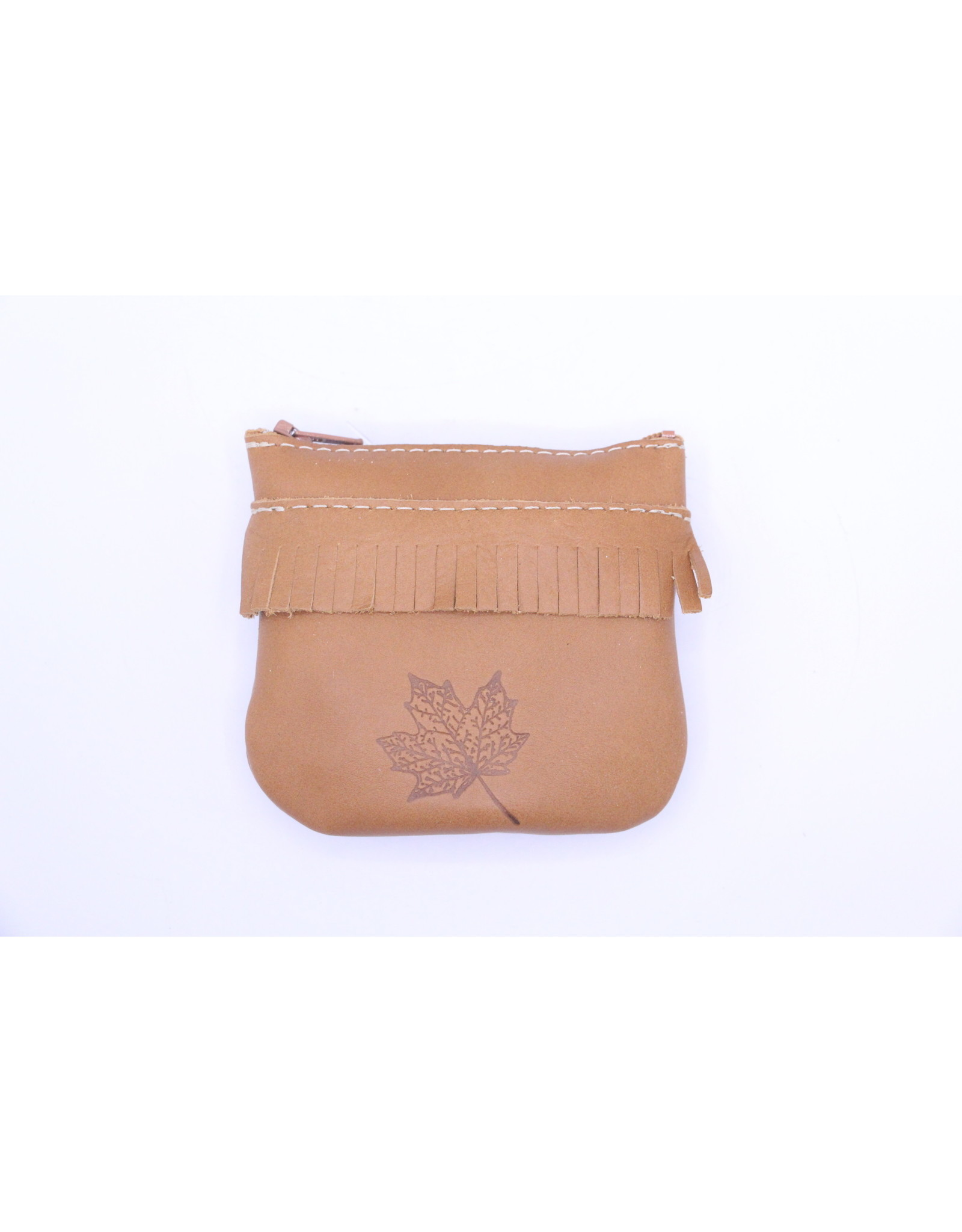 Small Leather Coin Purse 202 Light Brown - Maple Leaf