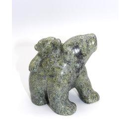 Walking Bear with Cub by Markoosie Papigatuk