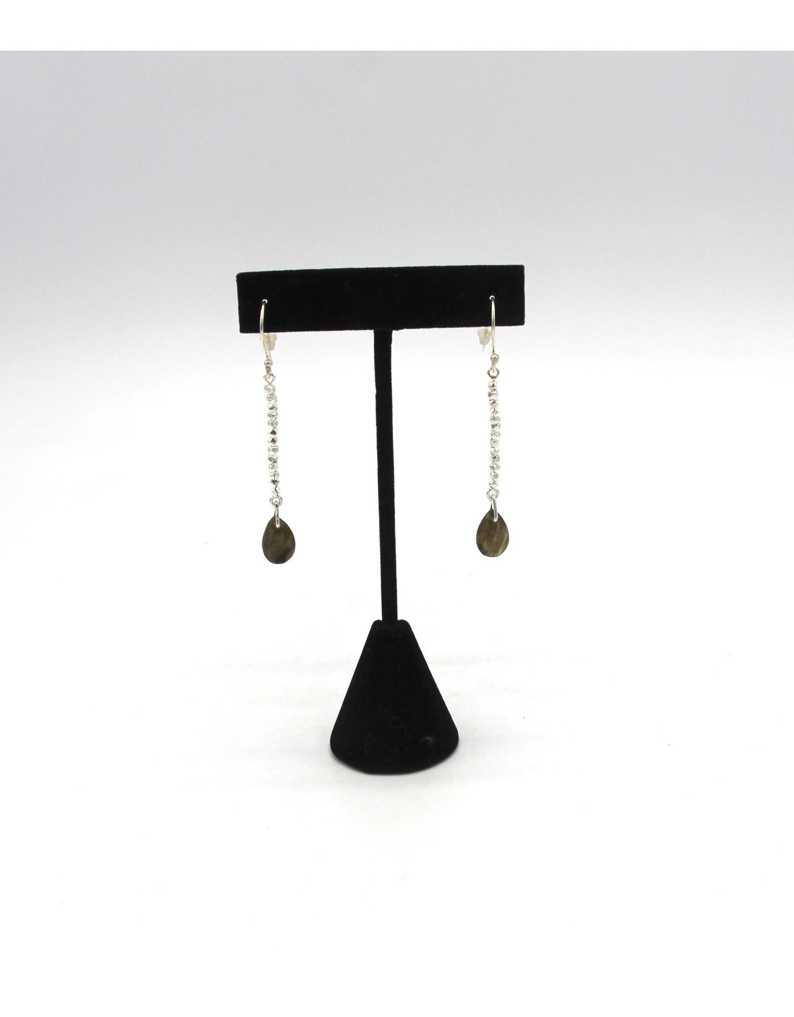 Labradorite Earrings - 10657