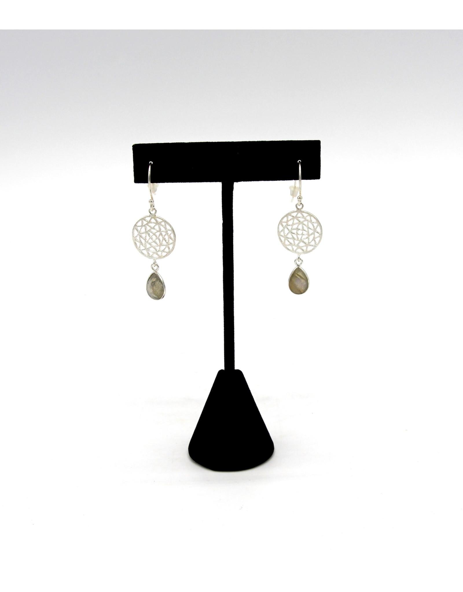 Labradorite Earrings - 10654
