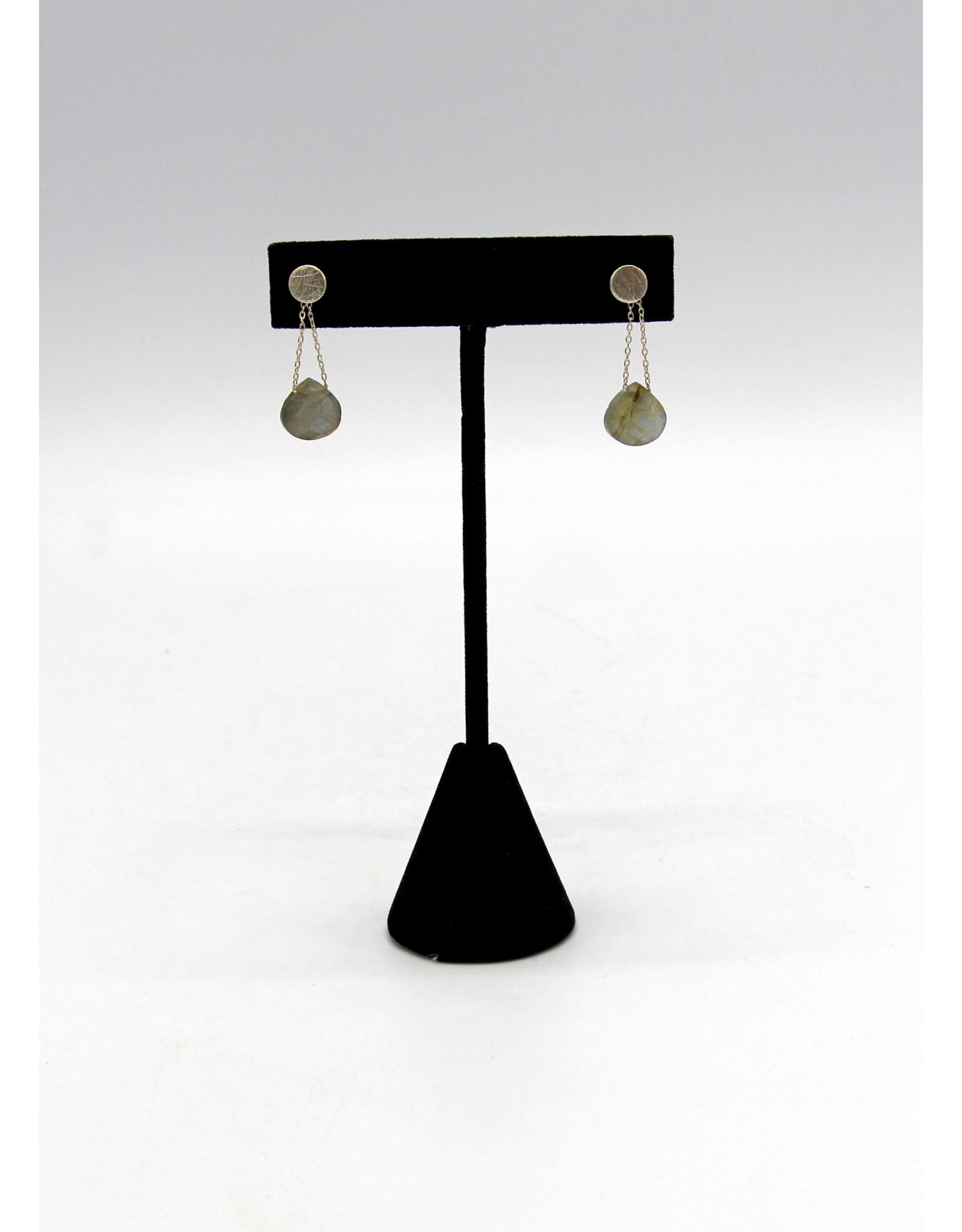 Labradorite Earrings - 10651