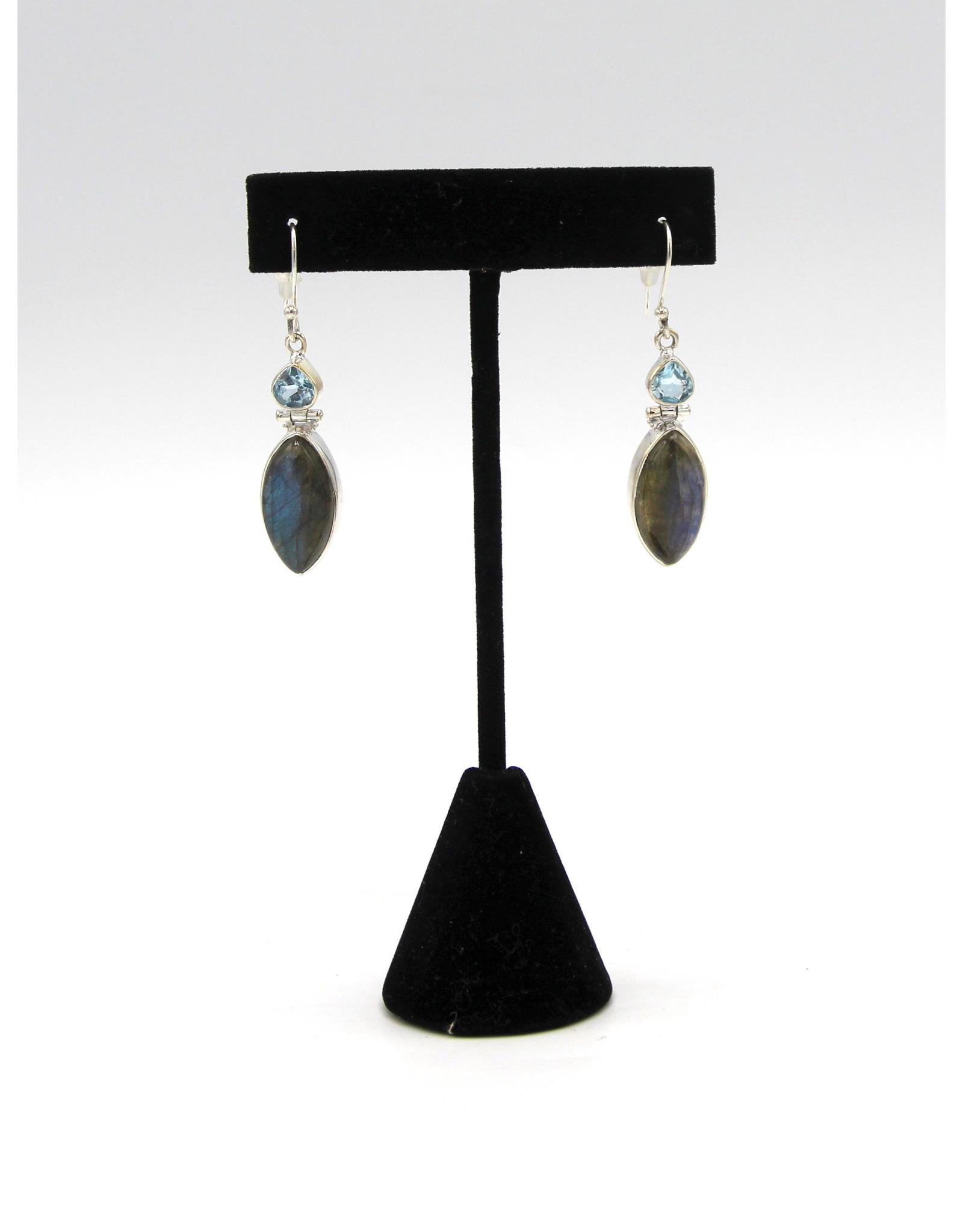 Labradorite Earrings - 10653