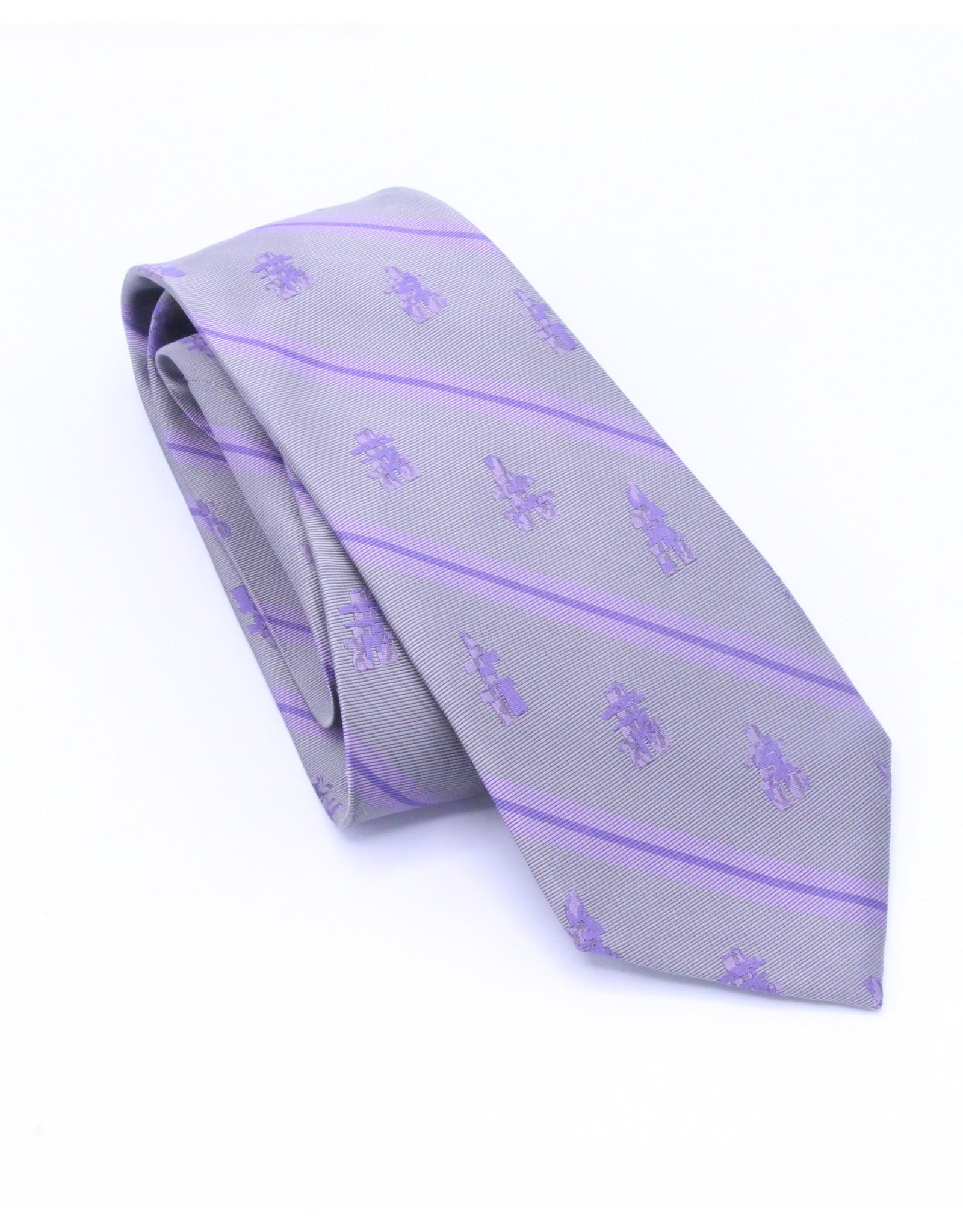 6061  Inukshuk Silk Tie Grey