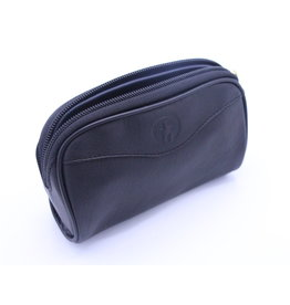 Black Leather Muskox Toiletry Bag