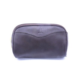 Brown Leather Muskox Toiletry Bag