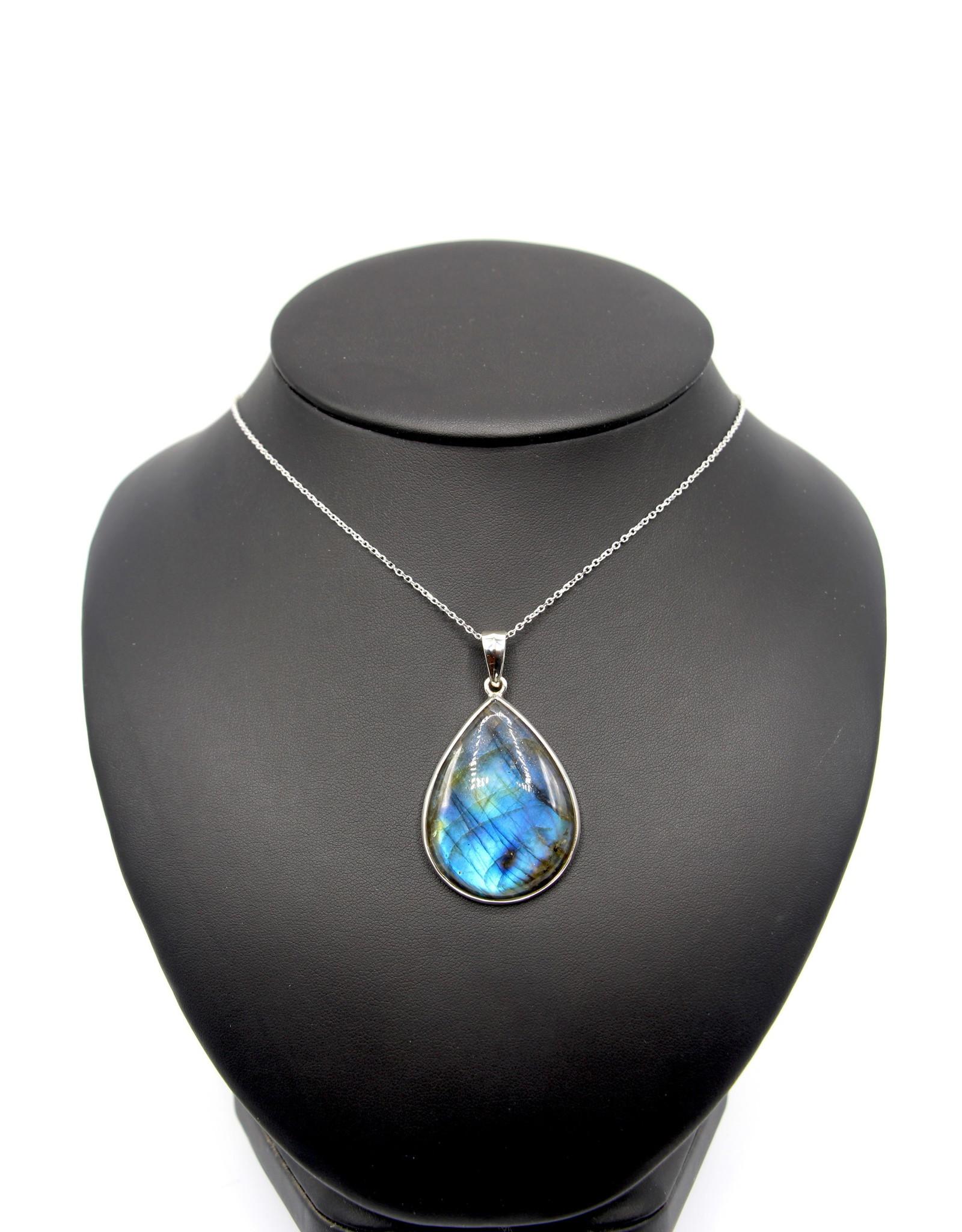 Large Labradorite Necklace - 10601