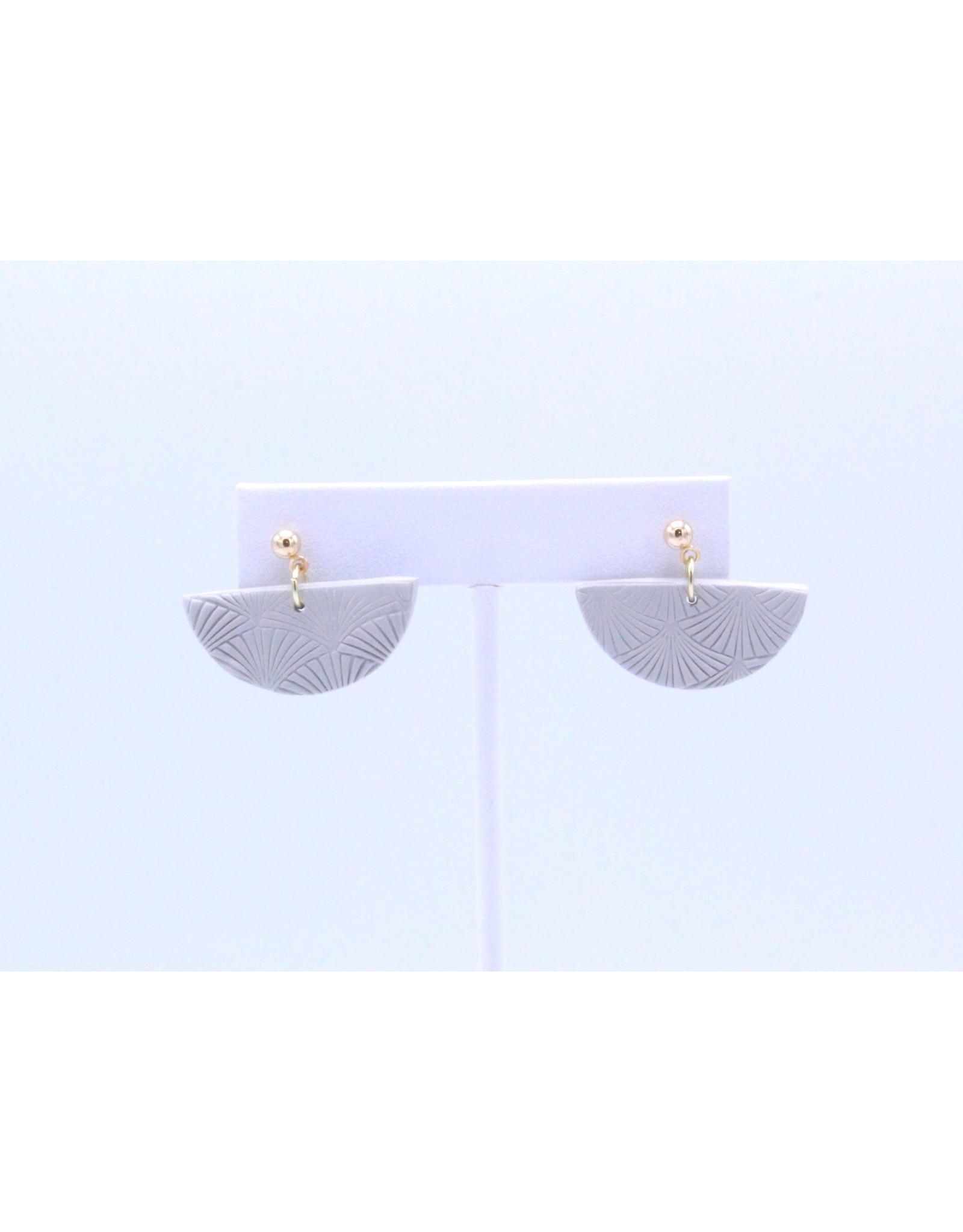 Kleo Earrings - Grey