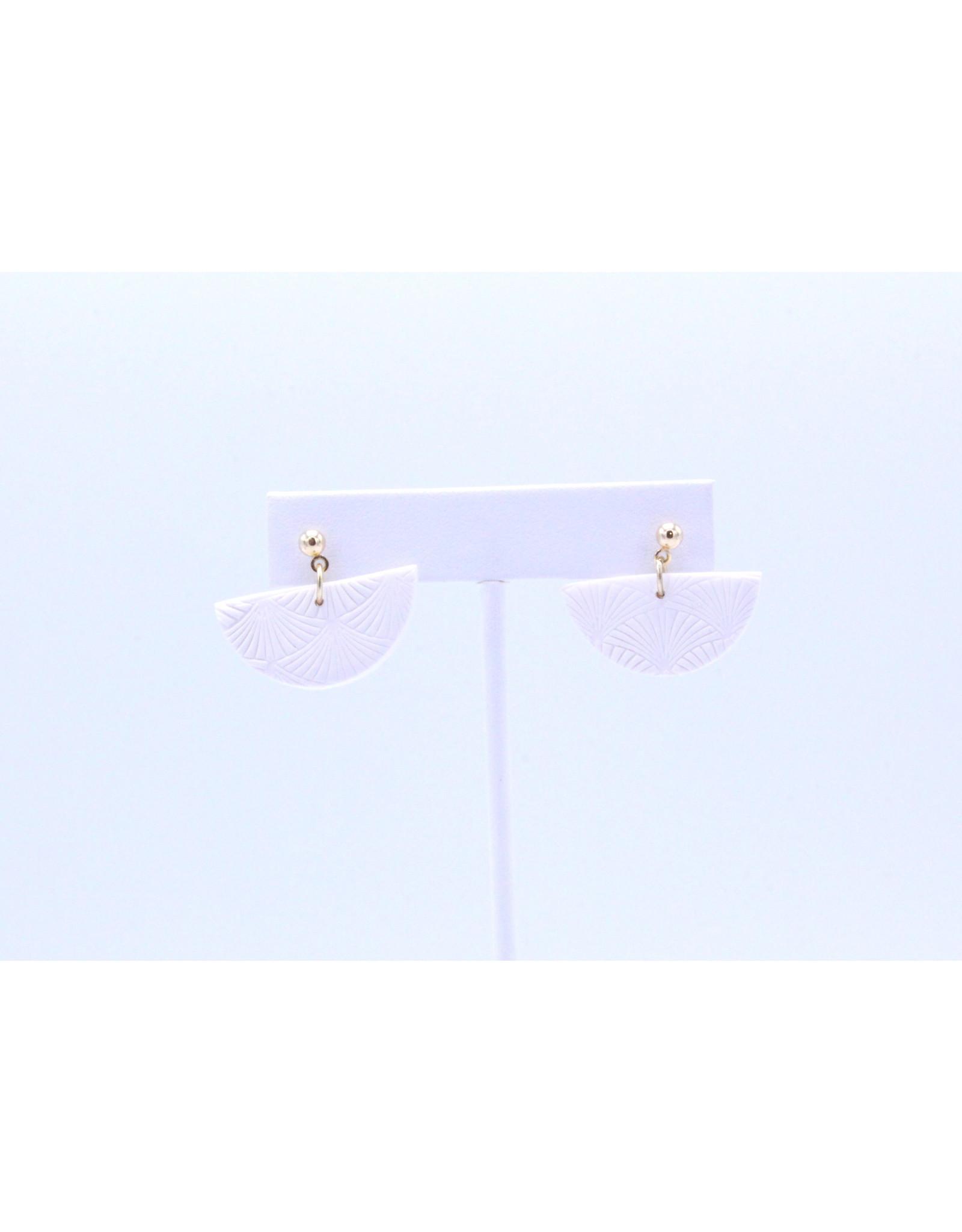 Kleo Earrings - White
