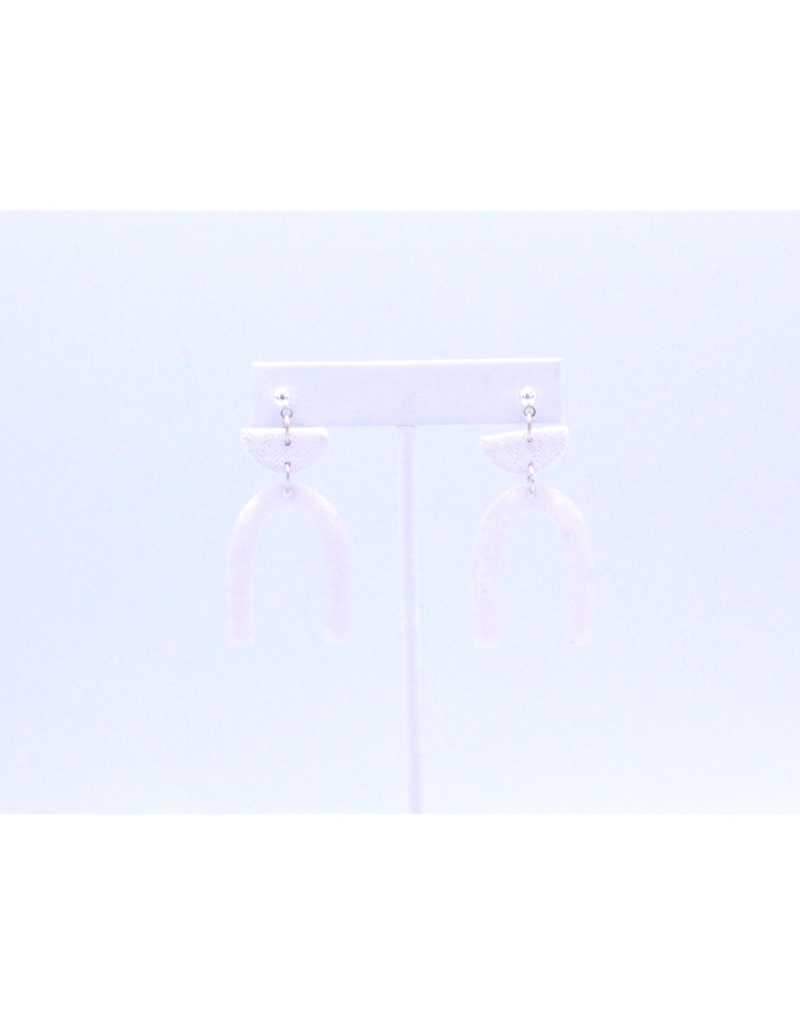 Gaia Earrings - White