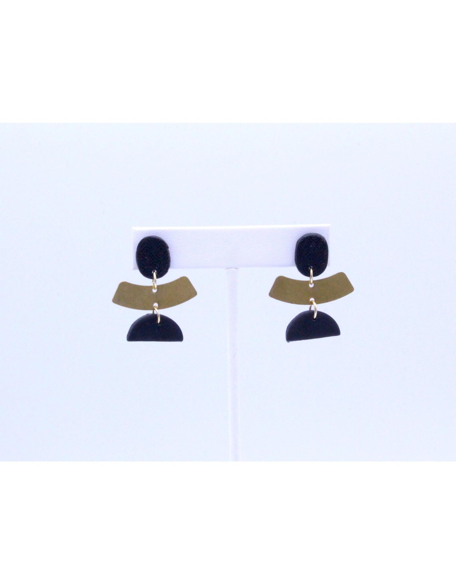 Cleopatra Earrings - Black