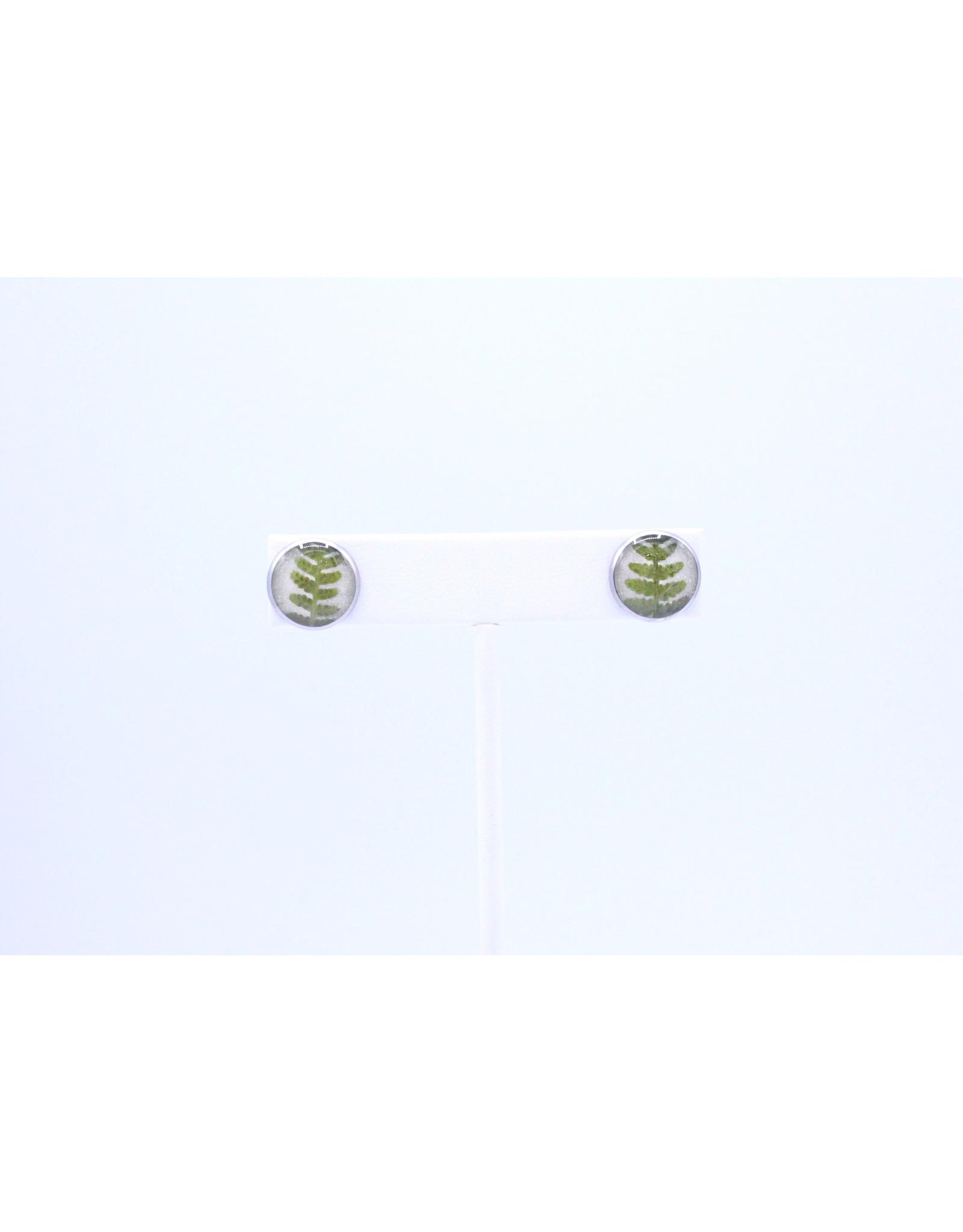 12mm Stud Fern Earrings  - J12SFE1
