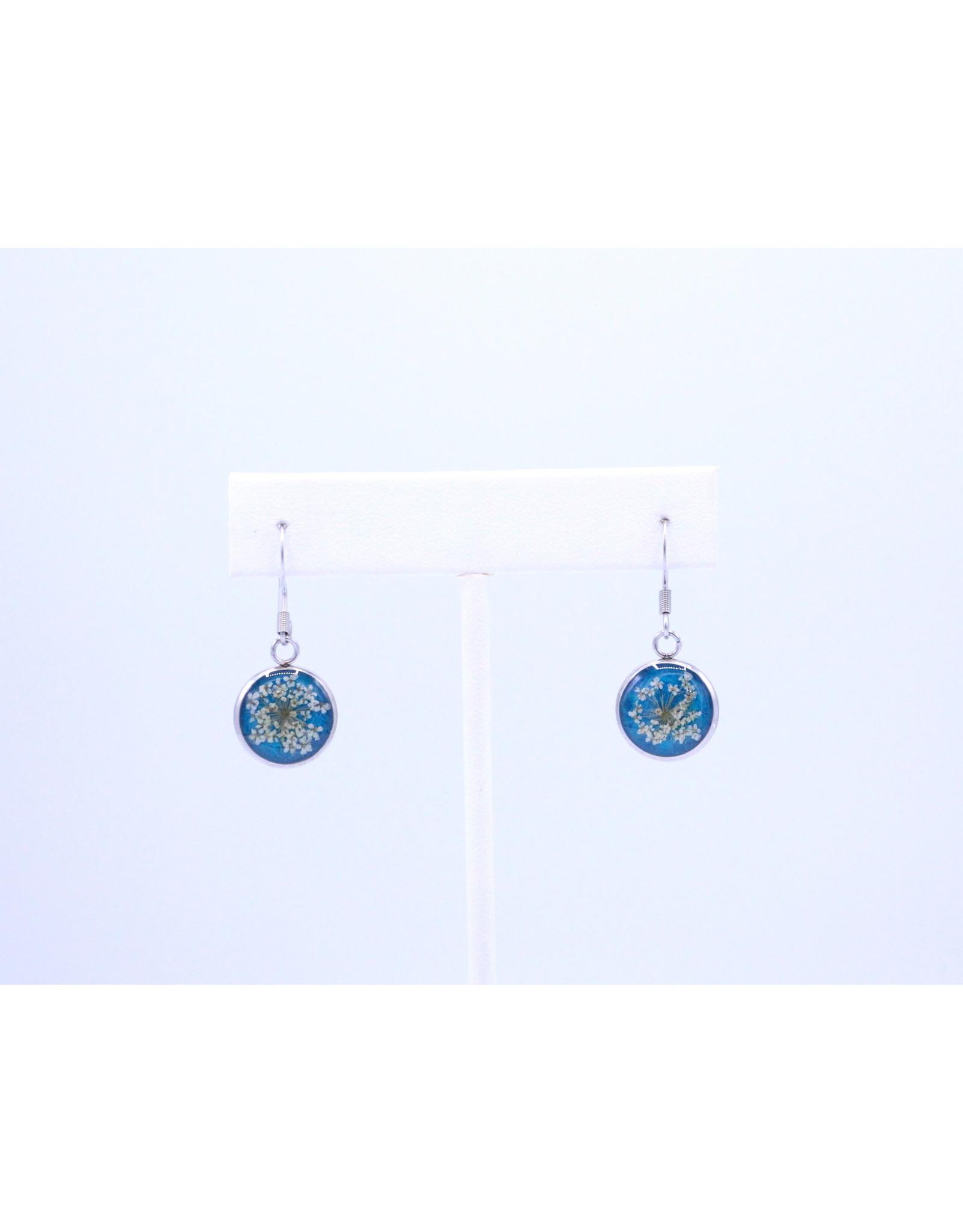 12mm Drop Queen Anne's Lace Earrings blue - J12DQALB2